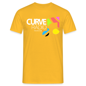 CurveRadio Full Square Logo - Yellow - Men's T-Shirt