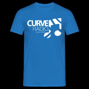 CurveRadio Square Logo - Royal Blue - Men's T-Shirt