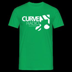 CurveRadio Square Logo - Kelly Green - Men's T-Shirt