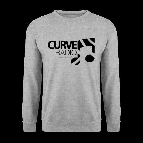 CurveRadio Square Logo - Salt and Pepper - Men's Sweatshirt