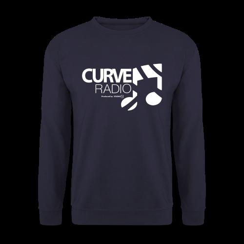 CurveRadio Square Logo - Navy - Men's Sweatshirt
