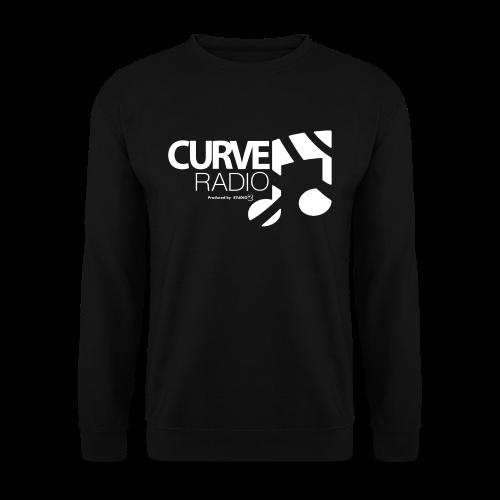 CurveRadio Square Logo - Black - Men's Sweatshirt