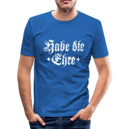 Habe die Ehre (Vintage/Weiß) Slim Fit T-Shirt - Männer Slim Fit T-Shirt