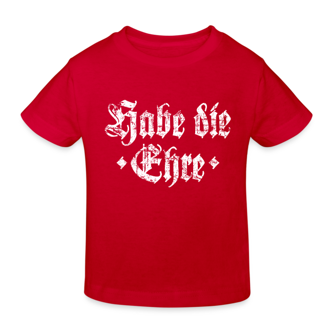 Habe die Ehre (Vintage/Weiß) Kinder Bio T-Shirt