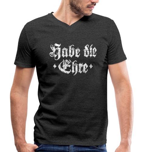 Habe die Ehre (Vintage/Weiß) V-Neck T-Shirt - Männer Bio-T-Shirt mit V-Ausschnitt von Stanley & Stella