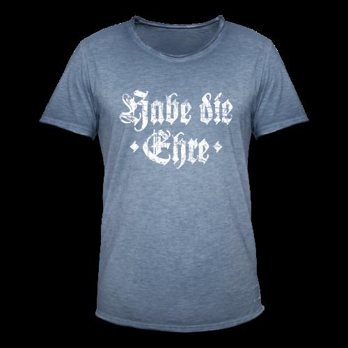 Habe die Ehre (Vintage/Weiß) Vintage T-Shirt - Männer Vintage T-Shirt