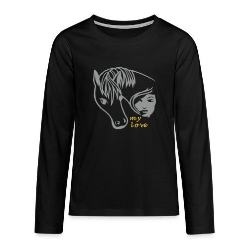Pferd - Teenager Premium Langarmshirt