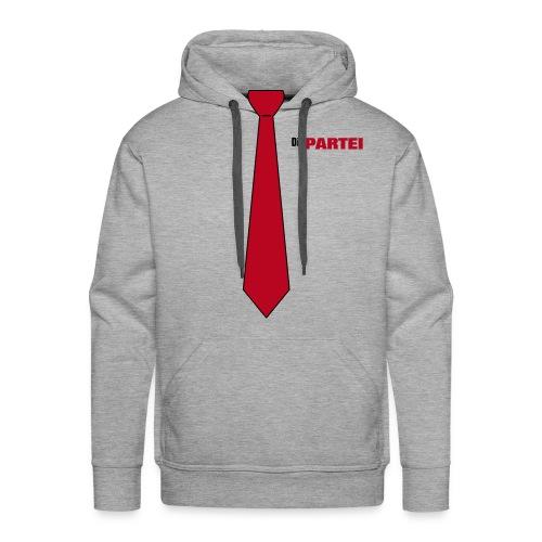 PARTEI Pulli Krawatte - Männer Premium Hoodie