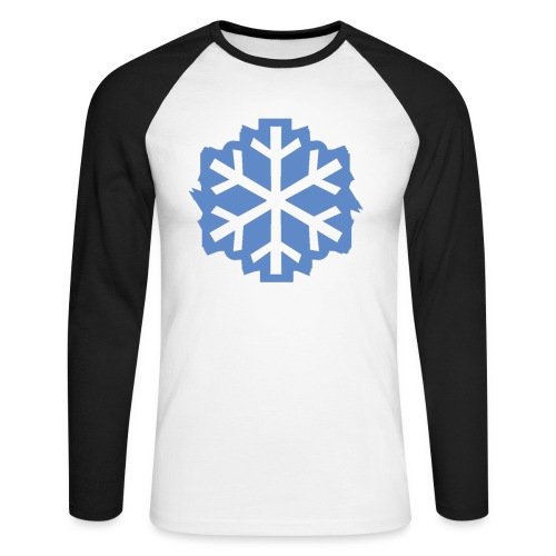Snowflake Baseball Tee - Men's Long Sleeve Baseball T-Shirt
