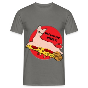 Sphynxy Pizza - Maglietta da uomo
