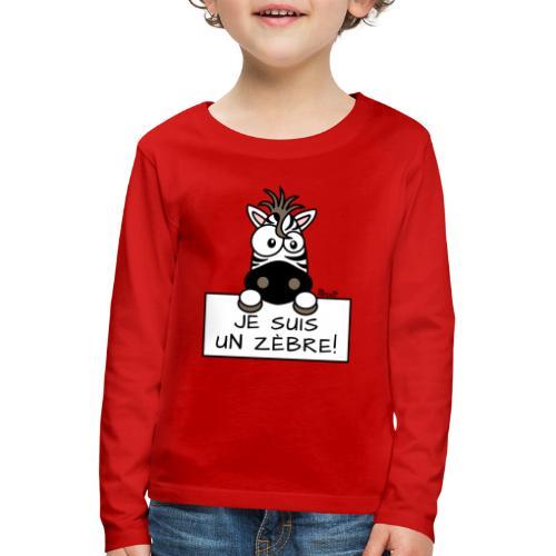 T-shirt manches longues Premium Enfant, Je suis un Zèbre - T-shirt manches longues Premium Enfant