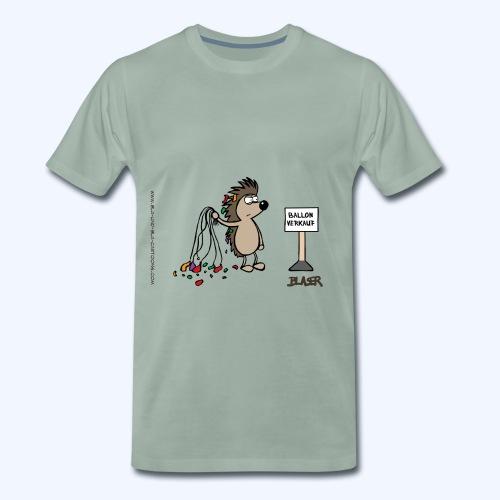 Igel als Ballonverkäufer - Männer Premium T-Shirt