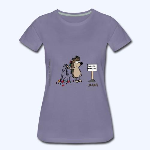 Igel als Ballonverkäufer - Frauen Premium T-Shirt