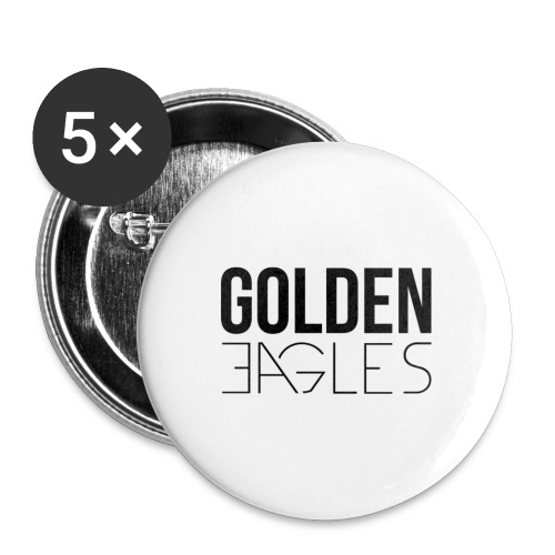 Pins Golden Eagles - Lot de 5 petits badges (25 mm)