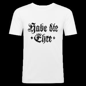 Habe die Ehre (Vintage/Schwarz) Slim Fit T-Shirt - Männer Slim Fit T-Shirt