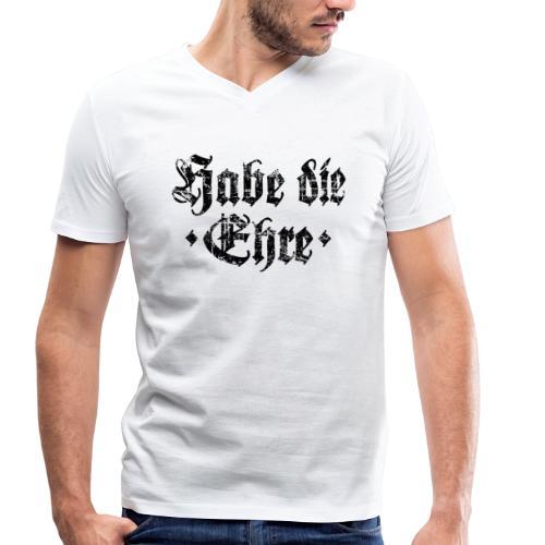 Habe die Ehre (Vintage/Schwarz) V-Neck T-Shirt - Männer Bio-T-Shirt mit V-Ausschnitt von Stanley & Stella