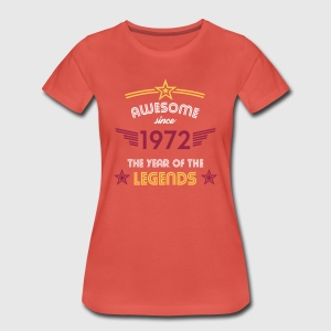 Awesome since 1972 T-Shirts - Frauen Premium T-Shirt