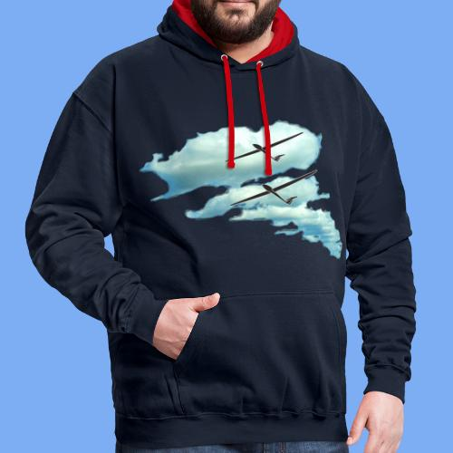clouds road - Contrast Colour Hoodie
