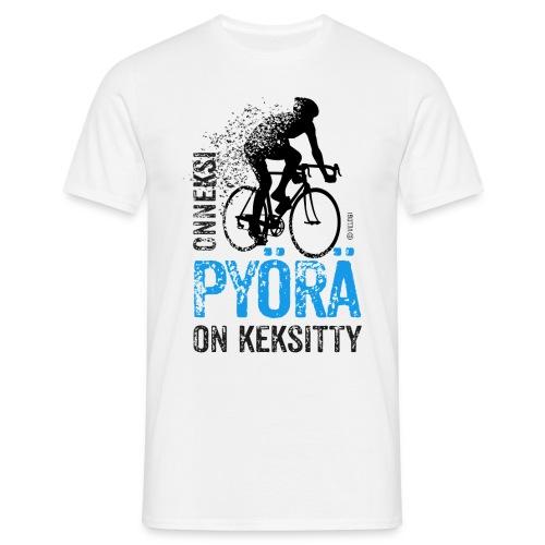 Onneksi pyörä on keksitty Maantie T-paita miehille - Miesten t-paita