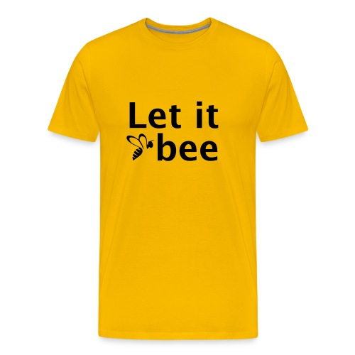 Let it bee - Rücken Imkerverein Wiesbaden - Männer Premium T-Shirt