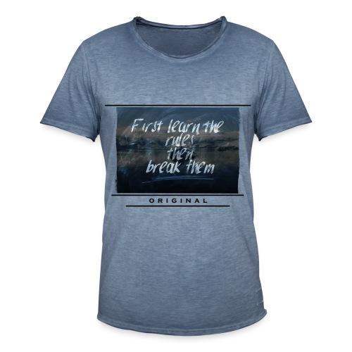 Break Rules (Vintage Shirt) [MEN]  - Männer Vintage T-Shirt