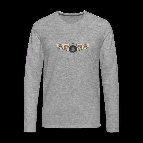 THWings #retro #männer - Männer Premium Langarmshirt