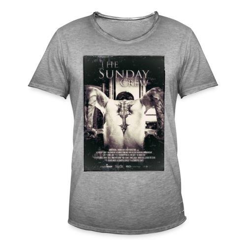 T-shirt retro m/poster motiv - Vintage-T-skjorte for menn