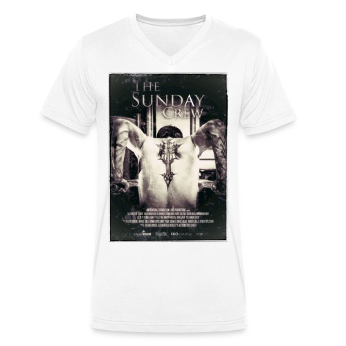 T-shirt V hals m/poster motiv - Økologisk T-skjorte med V-hals for menn fra Stanley & Stella