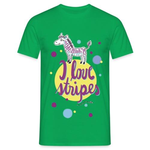 Pepito gestreift  - Männer T-Shirt