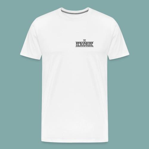 The Herobrine - Wit Shirt [man] - Men's Premium T-Shirt