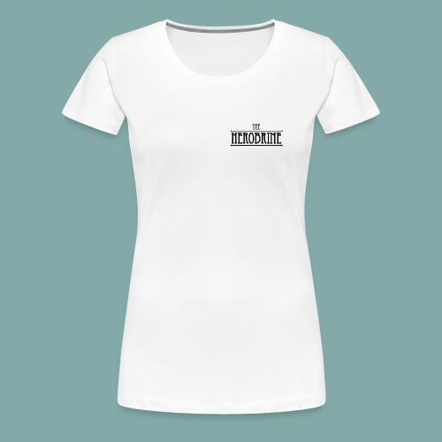 The Herobrine - Wit Shirt [vrouw] - Women's Premium T-Shirt
