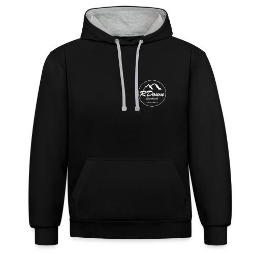 Sweatshirt à capuche RDown Snowboard, 2 logos - Sweat-shirt contraste