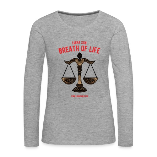 Libra Sun Women's Premium Longsleeve Shirt - Women's Premium Longsleeve Shirt