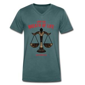 Libra Sun Men's V-Neck T-Shirt   - Men's Organic V-Neck T-Shirt by Stanley & Stella