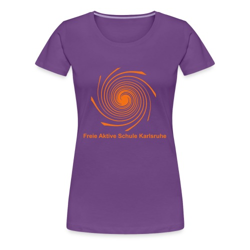 Damen T-Shirt - Spirale orange - Frauen Premium T-Shirt