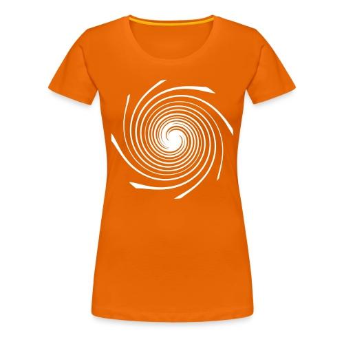 Damen T-Shirt - Spirale weiß - Frauen Premium T-Shirt
