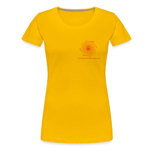 Damen T-Shirt - Spirale hinten orange - Frauen Premium T-Shirt