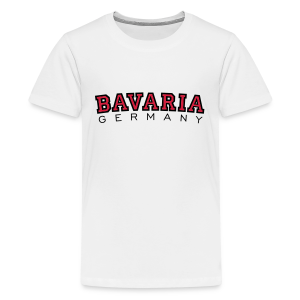 Bavaria Germany (Schwarz/Rot) Bayern Teenager T-Shirt - Teenager Premium T-Shirt