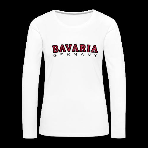 Bavaria Germany (Schwarz/Rot) Bayern Langarmshirt - Frauen Premium Langarmshirt