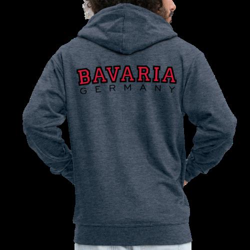 Bavaria Germany (Schwarz/Rot) Bayern Kapuzenjacke - Männer Premium Kapuzenjacke