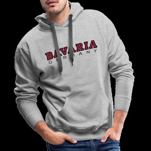 Bavaria Germany (Schwarz/Rot) Bayern Hoodie - Männer Premium Hoodie