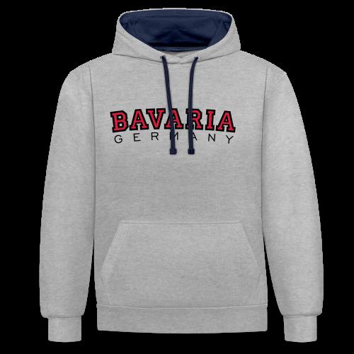 Bavaria Germany (Schwarz/Rot) Bayern Kontrast Hoodie - Kontrast-Hoodie
