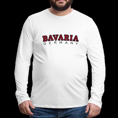 Bavaria Germany (Schwarz/Rot) Bayern Langarmshirt - Männer Premium Langarmshirt