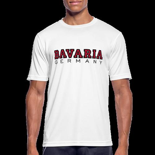 Bavaria Germany (Schwarz/Rot) Bayern Funktionsshirt - Männer T-Shirt atmungsaktiv