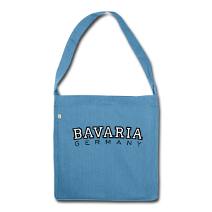 Bavaria Germany (Schwarz/Weiß) Recycling Tasche - Schultertasche aus Recycling-Material