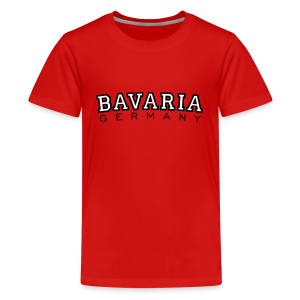 Bavaria Germany (Schwarz/Weiß) Teenager T-Shirt - Teenager Premium T-Shirt