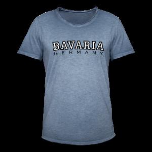 Bavaria Germany (Schwarz/Weiß) Vintage T-Shirt - Männer Vintage T-Shirt