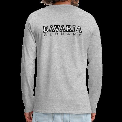 Bavaria Germany (Schwarz/Weiß) Langarmshirt - Männer Premium Langarmshirt