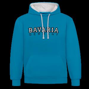 Bavaria Germany (Schwarz/Weiß) Kontrast Hoodie - Kontrast-Hoodie