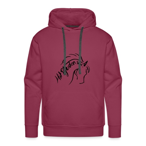 Proud Horse , Men Hoody (Print: Digital Black) - Männer Premium Hoodie